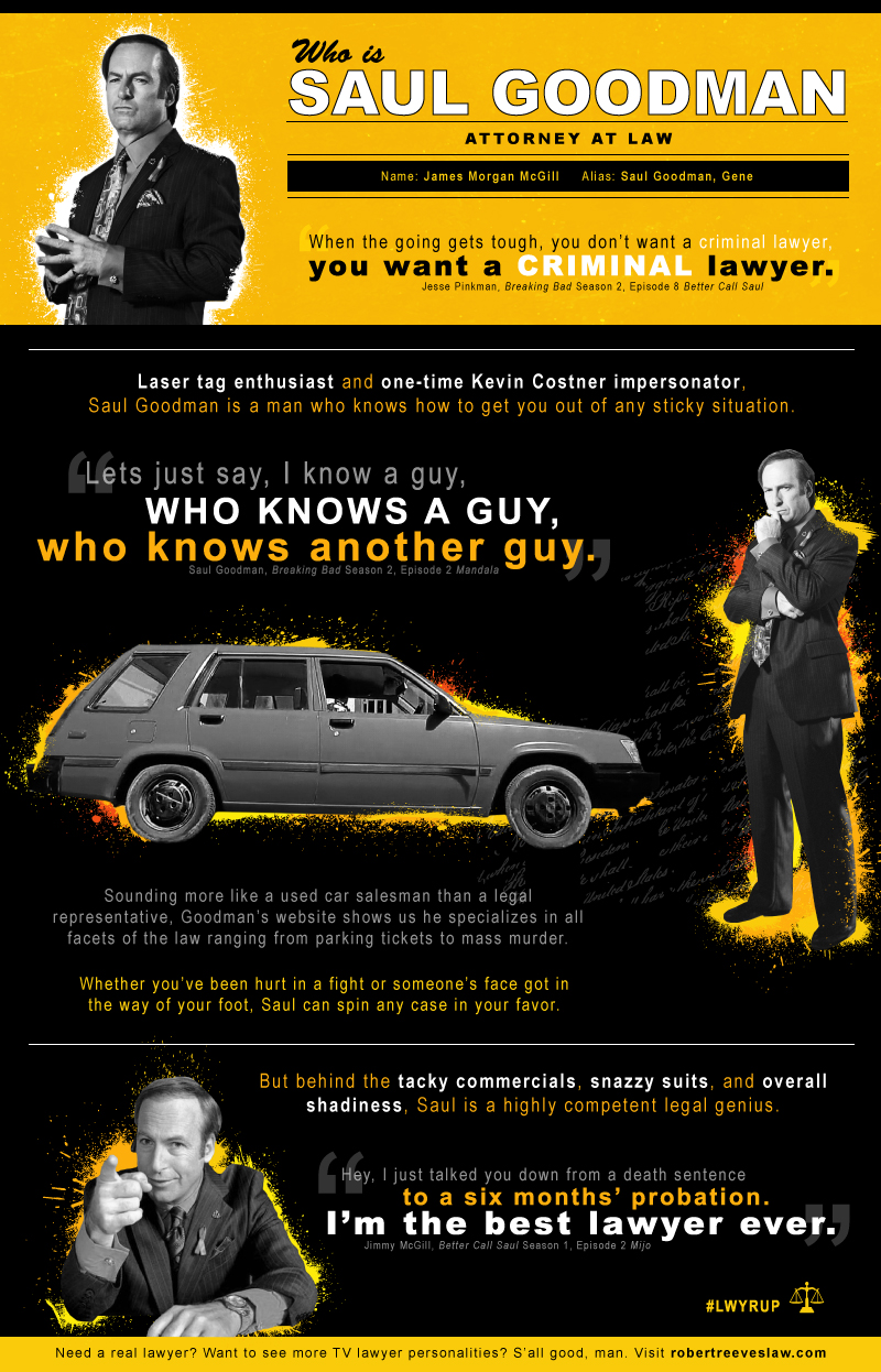 Our Very Own Saul Goodman Infographic And Best Of Quotes