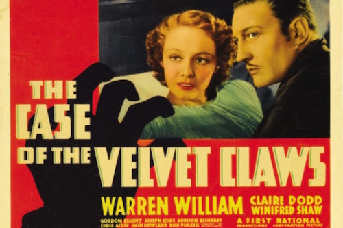 The Case of the Velvet Claws Movie Poster Graphic