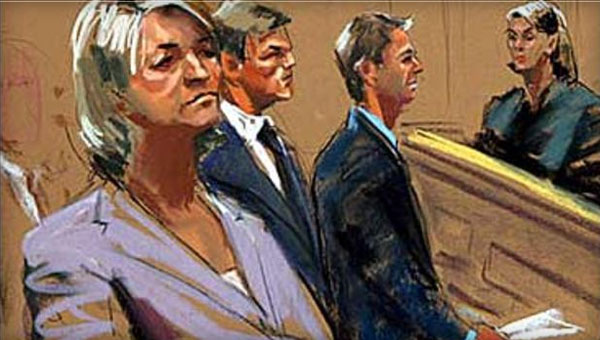 Martha Stewart Horrible Courtroom Sketch