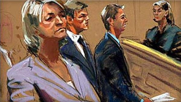 Martha Stewart Horrible Courtroom Sketch