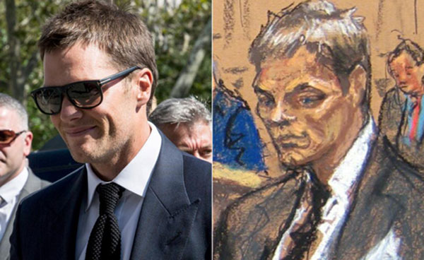Tom Brady Jane Rosenberg Courtroom Sketch