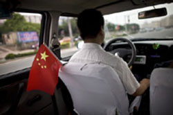 Chinese Flag and Drive in Taiwan Graphic