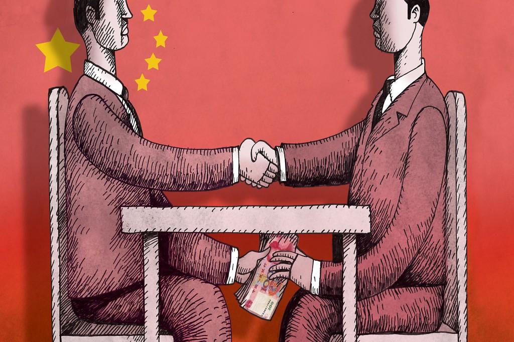 China Flag Handshake