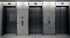 row of elevators