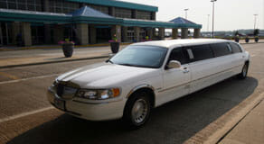Parked-White-Limousine