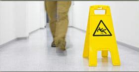 slip and fall wet floor hazard sign