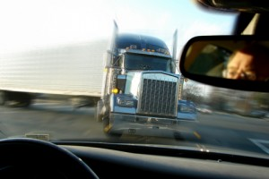 Oncoming Big Rig About to Cause a Semi Truck Accident