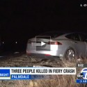 Tesla Driver Leaves Trail of Death and Injuries