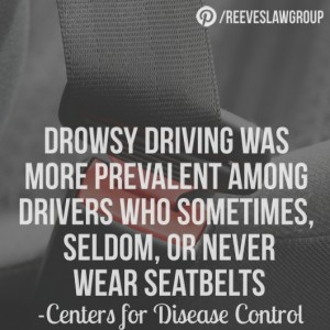 Drowsy Drivers Less Likely to Buckle Up