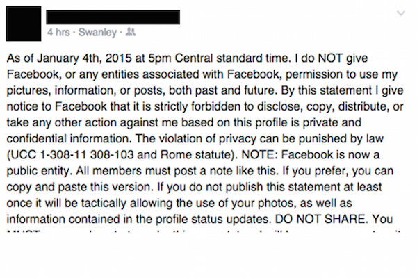 Facebook Privacy Notice Hoax Graphic