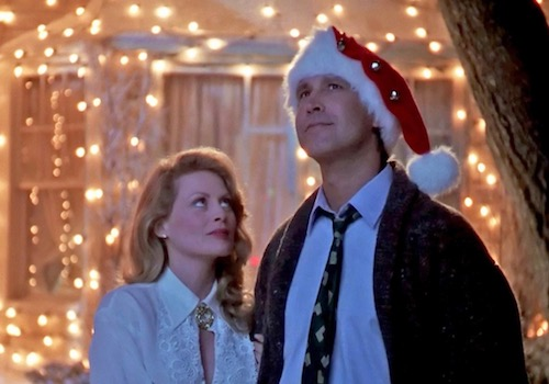 Clark & Bev Griswald Admiring their Christmas Vacation Decorations