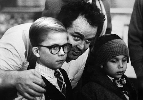 Filmaker Bob Clark Giving Ralphie Direction during the Christmas Story Filming