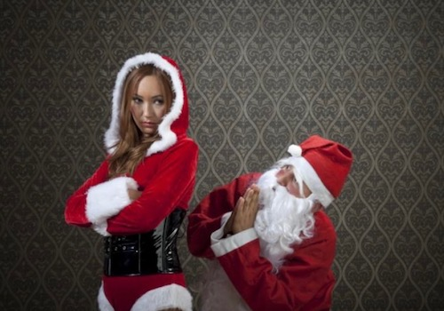 Santa on his Knees Begging a Hot Mrs Claus to Forgive Him